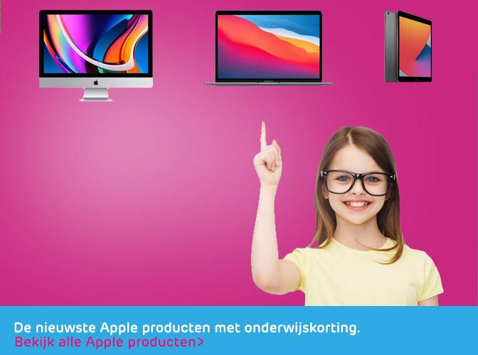 Apple onderwijskorting banner