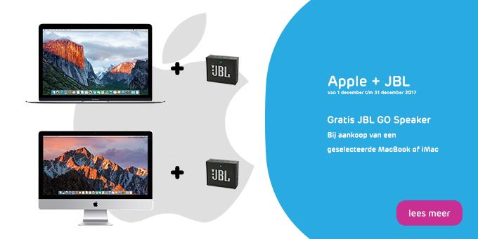 Gratis JBL GO bij aankoop van een iMac of MacBook