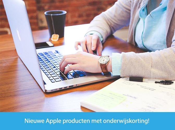 Apple met onderwijskorting banner