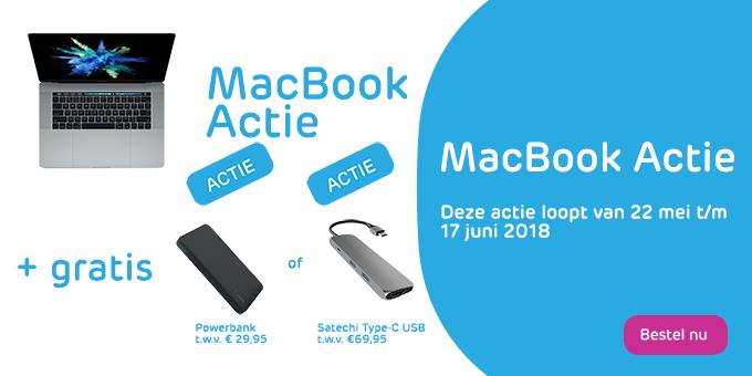 Ontvang een gratis Satechi of Powerbank bij aanschaf van een Apple MacBook!