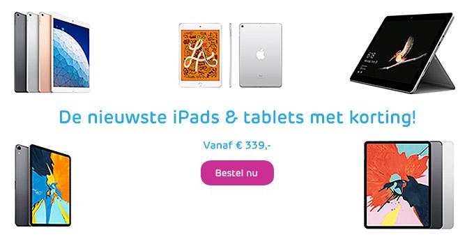iPads en tablets banner