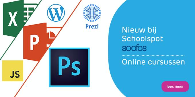 Nieuwe online cursussen van Soofos bij schoolspot