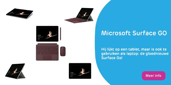 Nieuwe Microsoft Surface Go banner