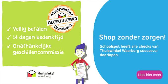 Schoolspot heeft het Thuiswinkel Waarborg certificaat behaald